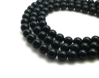 8mm Natural Black Agate Beads Round 8mm Black Agate 8mm Natural Onyx Beads Black Onyx 8mm Onyx 8mm Onyx Beads 8mm Onyx Mala