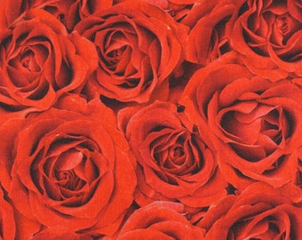 Solid cotton fabric roses