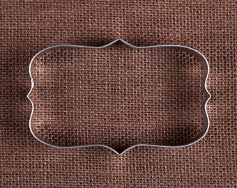 Plaque Rectangle emporte-pièce, Plaque emporte-pièce, mariage emporte-pièces, fantaisie Cookie Cutter, emporte-pièces, emporte-pièce en forme de sucre en métal