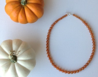 Orange Aventurine necklace