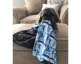 Custom Name Blanket, Puppy blanket, Birthday, Birth Announcement, Dog, Pet friendly, Best friend, Lovey, Personalized Baby Blanket