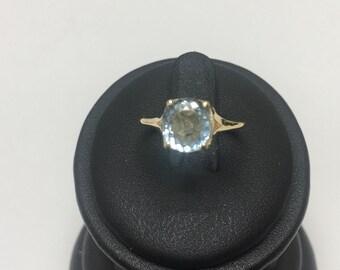 14k Aquamaring Ring