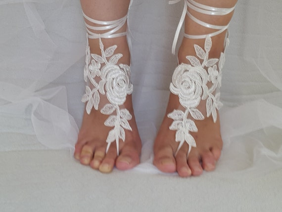 bridesmaids wedding ivory free bridal shipping wedding sandals sandals lace bridal accessories shoes summer Anklet shoes shoes rwqvZrX