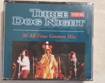Three Dog Night 3 CD Set with 36 All Time Greatest Hits from 1996  -A