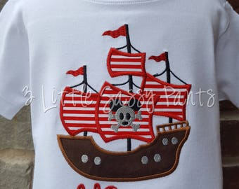 Mickey Mouse Pirate Ship Shirt, Pirate Shirt, Mickey Shirt, Custom Disney Shirt-Vacation, Boys Custom Disney Vacation Shirt
