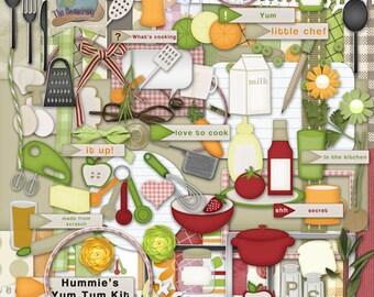 "Digital Scrapbooking Recipe Cooking ""Yum Tum"" Kit"