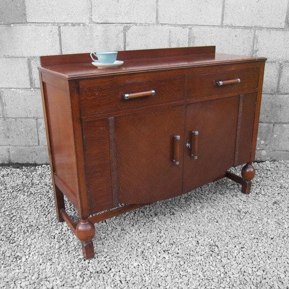 Vintage Art Deco Sideboard Storage Cabinet 1930s
