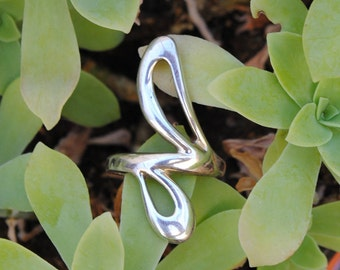 Silver ring - vintage ring - large ring - woman ring - design ring - vintage jewelry