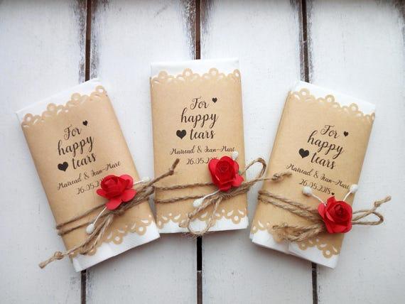 Happy Tears Tissue Pack Wedding Favors Custom Happy Tears