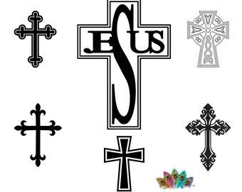 Easter SVG,Cross svg silhouette files,Crosses vector png, eps,jpg, Crosses clipart,Cross cameo cricut,Jesus Cross SVG, Christian cross
