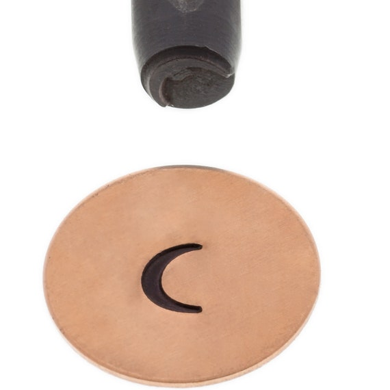 Crescent Moon Design Stamp 5mm Design - Elite Metal Stamp Punch