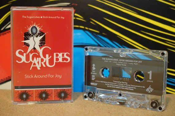 Stick Around For Joy by The Sugarcubes Vintage Cassette Tape