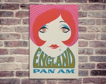 England poster. Vintage poster. Travel poster.  Vintage England poster.