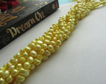Yellow Baroque Freshwter Pearl,Yellow Pearl,Pearl,Baroque Pearl