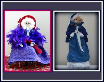 "2 in 1 ""Celia - Art Doll and Celia Victorian Girl Doll"" Combo E-Pattern"