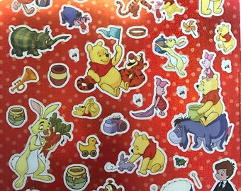 Print multiple stickers Winnie the Pooh sticker A4 - gloss with holographic background