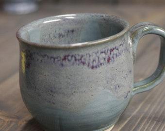 12 Unzen Becher, Meerschaum grün, glänzende Kupfer grün mit dunklen lila/rot driften in großen Becher für Kaffee oder Tee.