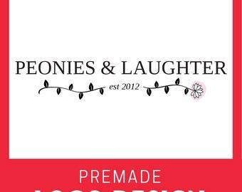 Custom Premade Logo- Peony Flower