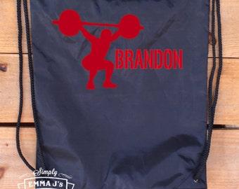 Backpack, sports bag, shoe bag, weightlifting, weightlifting bag, custom backpack, weightlifter