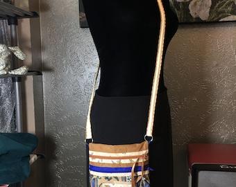 HoneyDripper   handmade smallish mid-sized cross-body purse