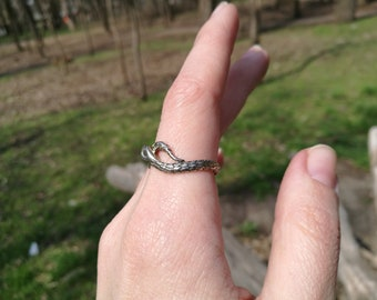 Snake Ring Handmade Sterling Silver Animal Ring Unique Handcrafted Jewelry nature lover Tribal Ring Snakes Ring snake rings
