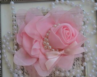 Set of 2 chiffon flower white chiffon flowers 3 chiffon flowers chiffon flower light pink chiffon flowers 5 chiffon flowers chiffon pearl flowers large chiffon flower mightylinksfo Images