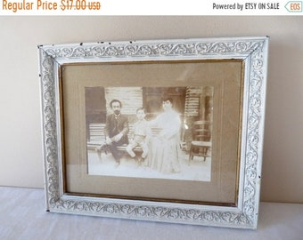 50% DISCOUNT Napoléon III - Family Photo in Frame French Antique - Shabby Chic Romantic French antique frame - 19th century