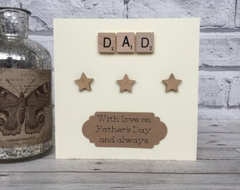 Dad Fathers Day Card, Scrabble Fathers Day Card, Scrabble Fathers Day Card For Dad