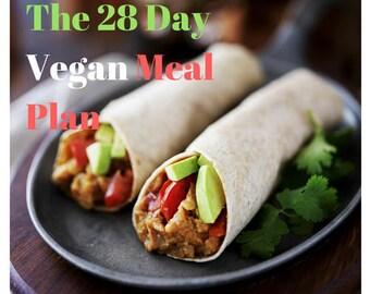The 28 day Vegan Meal Plan!