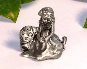 """Tooth Fairy Box """"ON A Whim Pewter"""" Ladybug"""