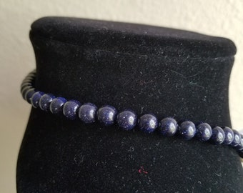 STARRY NIGHTS beaded trach ties/trach collar