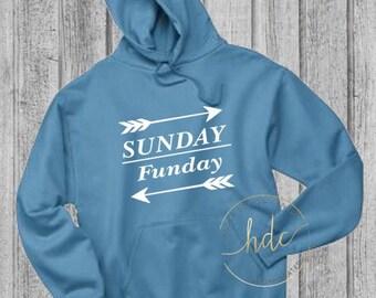 Women's Sunday Funday Hoodie/Bachelorette Party Sweatshirt/Weekend Hoodie/Vacation Sweatshirt/Pullover Hoodie Sweatshirt