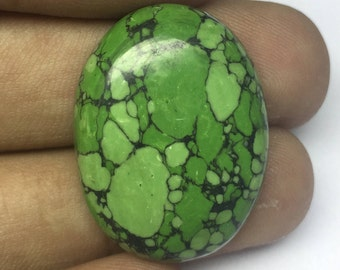 Natural turquoise Oval shape size 29x21x7mm Wt-6.59 Gm