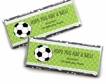 24 GOAAAL! - Soccer Custom Candy Bar Wrappers - Personalized Baby Shower and Birthday Party Favors