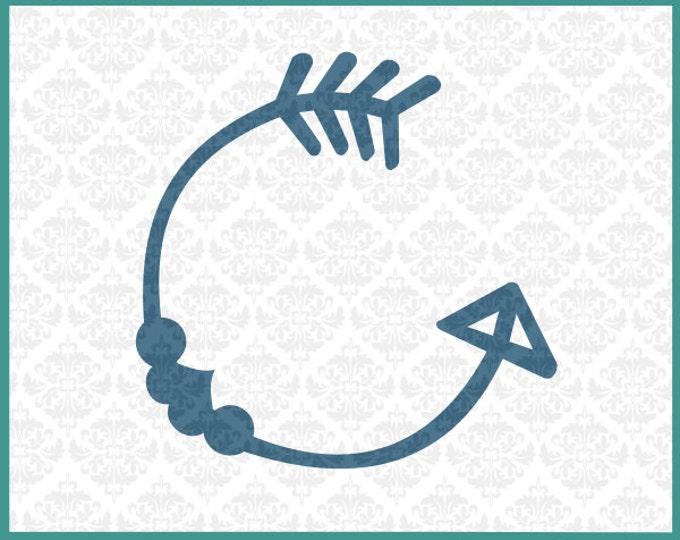 CLN048 Follow Your Arrow Monogram SVG DXF Ai EPS Vector Instant Download Commercial Use Cutting FIle Cricut Explore Silhouette Cameo