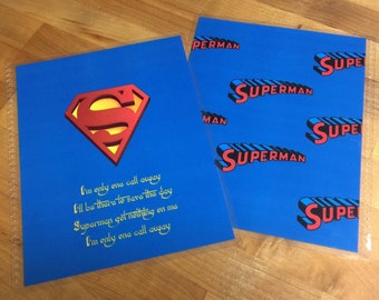 Front and Back Cover Set *Superman* for use with Erin Condren or Happy Planner