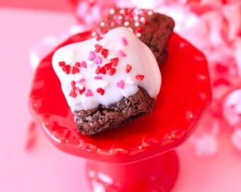 Valentine Mini Chocolate Covered Brownie Bites – 1 Dozen