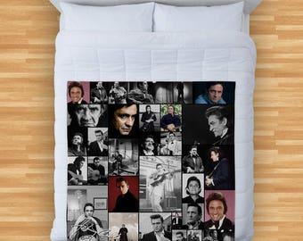 Johnny Cash Design Soft Fleece Blanket Cover Throw Over Sofa Bed Blanket