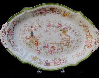 Large Antique Serving Platter W H Grindley Made in England - 1890s