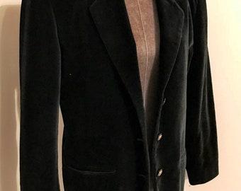 Black velvet blazer by International scene made in Poland size 9/10