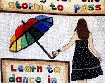 Dance in the Rain Cross Stitch Kit -