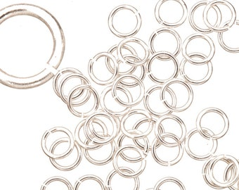 18 gauge Jump Rings Jump Rings Silver plated brass 7mm sold per 50pcs