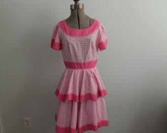 1980's Checkered Square Dance Dress