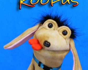 Roofus Dog  Hand Puppet or Ventriloquist Puppet