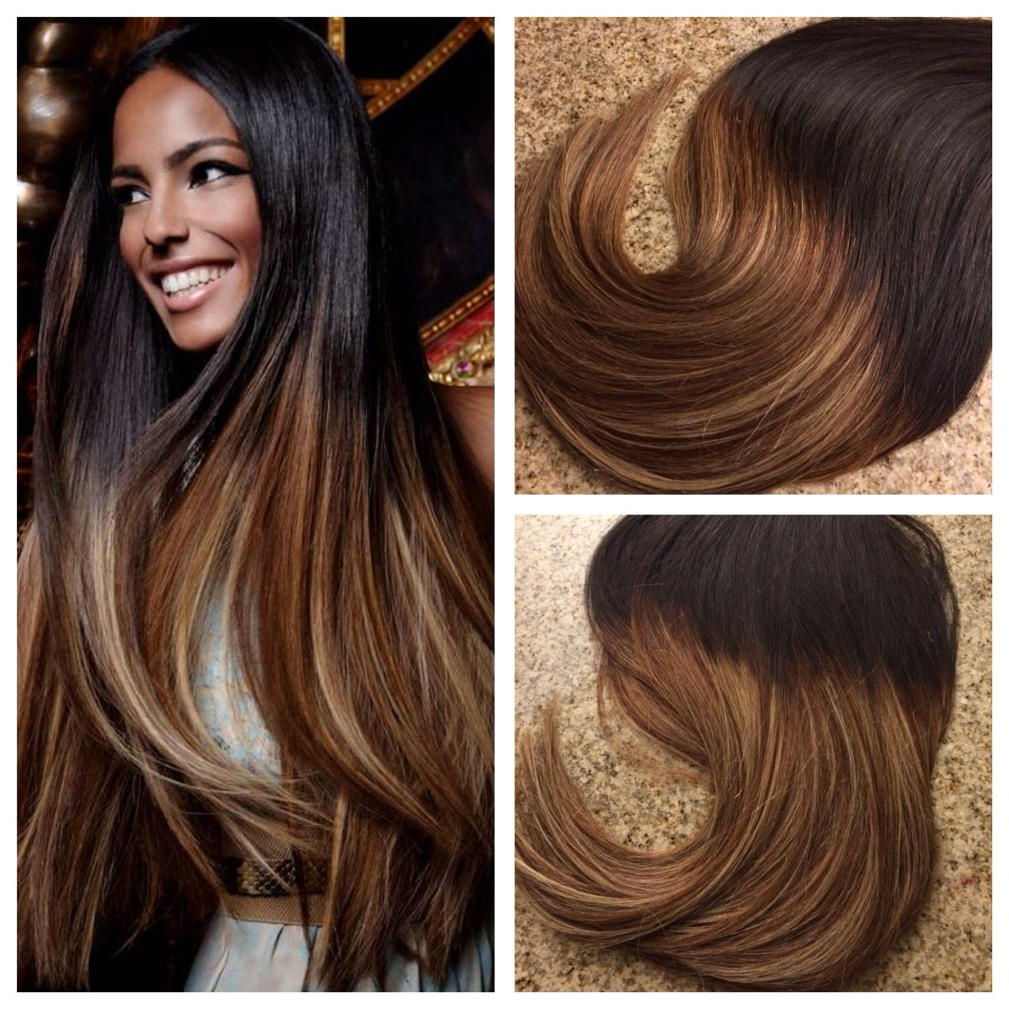 5 Star Ombre Balayage Cuticle Remy Human Hair Keratin Fusion Tape In