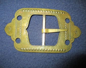 vintage copper belt buckle