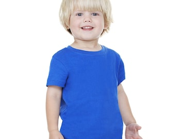Toddler Short Sleeve T-shirt - Custom Colors for Any Design in Our Shop - Kids Tee - 2t 3t 4t 5t 6t