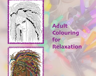 Colouring Book Big Hair Art