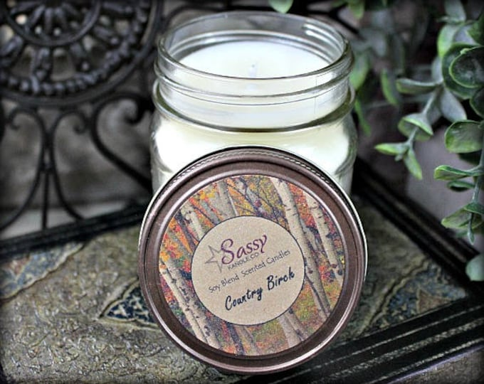 COUNTRY BIRCH | Mason Jar Candle | Sassy Kandle Co.