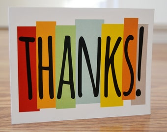 Thanks / Thank You / Note Card / Stationery